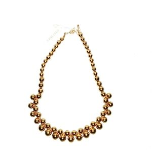 Ellen Tracy Gold Ball Necklace NWT
